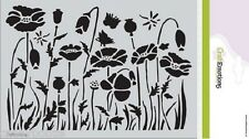 A5 Mask - Poppy Field - Flowers - Stencil - Embossing - 1233 - New Out