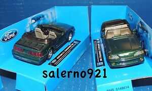 ONE 1994 FORD MUNSTANG G.T.CONVERTIBLE GREEN METALLIC COLOR1:43 (O) Scale  NWB !