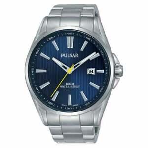 Pulsar Regular Quartz Blue Dial Silver Steel Men's Watch PS9603X1 RRP £90