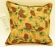 "BALSAM FIR PILLOW 5""x 5"" PINE CONE BRANCHES pine tree sachet scented lodge cones"