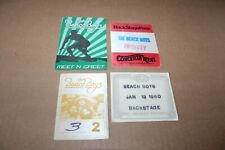 The Beach Boys - 4 x unused Backstage Pass - Lot # 1 - Free Postage