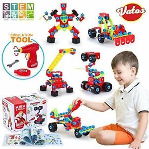 VATOS Spielzeug Baue Bausteine Lernspielzeug Baukasten mit 552 Stück - STEM E...