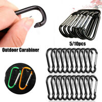 Top Alloy Safety Buckle Keychain Climbing Button Carabiner Camping Hiking Hook