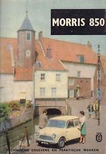 MORRIS 850 (TECHNISCHE GEGEVENS EN PRAKTISCHE WENKEN) - P. Bos (1963)