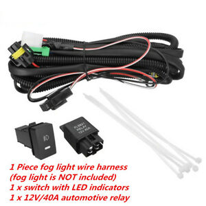 H11 Fog Light Wiring Harness & LED indicator Switch& Relay for Ford Focus Nissan