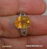 7.45 ct Royal  Imperial Topaz Gemstone Ring