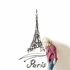 Wall Vinyl Sticker Decal Eiffel Tower Paris France Words Quote Sign (Z2790)