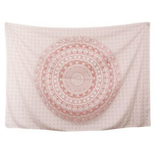 Pink Ombre Mandala Tapestry Art Indian Wall Hanging Bohemian Hippie Home Decor