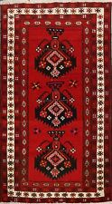 4x7 Geometric Balouch Afghan Oriental Tribal Area Rug Hand-Knotted Foyer Carpet