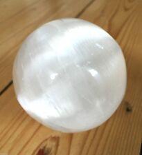 SELENITE SATIN SPAR 5-6CM CRYSTAL SPHERE BALL GEMSTONE HEALING SKRYING NEW AGE