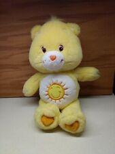"""13"""" Care Bear Funshine Plush Yellow Stuffed Animal Sunshine Carebear  2002"""