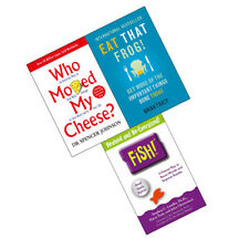 Who Moved My Cheese, Eat That Frog, Fish 3 Books Collection Set Brand NEW