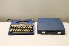 Royal Ranger Manual Typewriter Cool Color Blue Portable Vintage