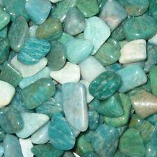 """12 Amazonite Tumbled Gemstones Sm. Sz. 1/2"""" - 15/16"""" Russia"""