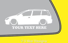 2x LOW YOUR TEXT Peugeot 206 SW HDi estate wagon outline sticker 143