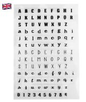 Alphabet Letters & Numbers Silicone Clear Reusable Stamps Art & Crafts Scrapbook