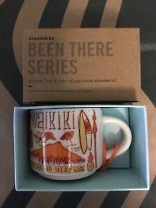 Starbucks 2oz WAIKIKI Hawaii Demi Tasse BEEN THERE mug Ornament Cup Mini Mug NIB