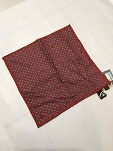 Canali Handkerchief/pocket Square  Burnt Red (nwt)
