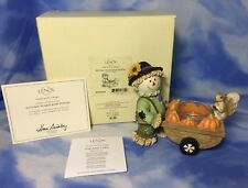 "Rare NEW Adorable Lenox ""Autumn Scarecrow Votive"" Figurine Squirrel #844278 NIB"