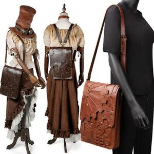 Women Retro Punk Steampunk Gothic Gear Backpack Handbag Messenger Shoulder Bag