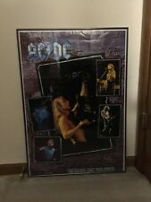 AC/DC signed by 5 Razor's Edge Tour Poster Malcolm Young Free Shipping!