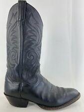 Sanders Mens Vintage Leather Handcrafted Cowboy Boots Mens Size 9.5D Black
