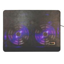 Laptop Cooler Ultra Slim Laptop Cooling Pad Chill Mat Quiet Fans USB Black
