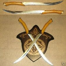 Legolas daggers knives lord of the Rings swords with wall plaque