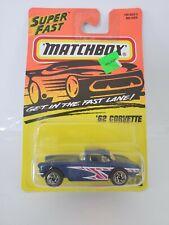 1995 Matchbox 1962 Corvette #32 - Blue - China Base