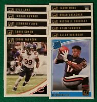2018 Donruss Chicago Bears Team Set. Anthony Miller RC, Eddie Jackson, 11 Cards,