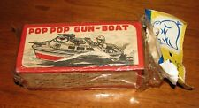 RARE Brand New Semi-Sealed SAN 1960's Japan Tin Toy Pop Gun Boat 29c Lee Product