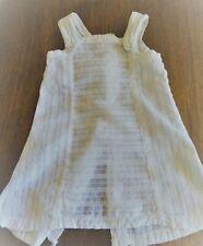Ancienne robe de poupée en linon et brodé