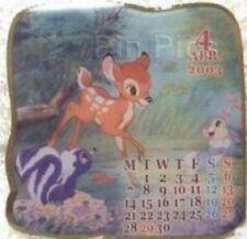 Disney Bambi & Flower Thumper Japan April Calendar Limited Edition 2000 pin