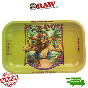RAW Rolling Tray Brazil Limited Edition Metal Tray with Certificate Rolling Tray
