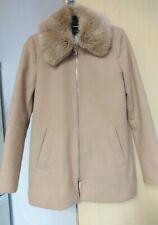 River Island Coat Detachable  Faux Fur Collar Size 8 Ladies Womens
