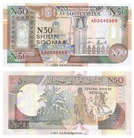 Somalia 50 Shillings 1991 P-R2 Banknotes UNC