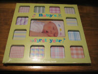 baby's first year picture frame-yellow