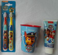 Nickelodeon PAW PATROL - 3pc Set - Toothbrushes, Toothpaste, Cup/Tumbler