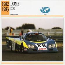 1982-1983 DOME RC82 Racing Classic Car Photo/Info Maxi Card