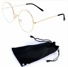 Round Style Harry Potter Inspired Eye Glasses with Pouch - ROSE GOLD