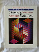 Study Guide for Weiten's Psychology Themes and Variations 4th Ed. - Paperback