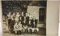 Real Photo Postcard RPPC ~ College Fencing Team ~ Men & Fencing Foils ~ Sports