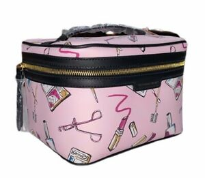Victorias Secret Cosmetic Large Makeup Bag Travel Train Case Make up Print $79