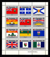 CANADA - Scott 832a (821-832) - 1979 Provincial Flags Sheet - MNH