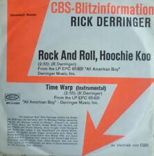 """7"""" 1974 ROCK CBS BLITZ PROMO RARE MINT- RICK DERRINGER Rock And Roll Hoochie Koo"""