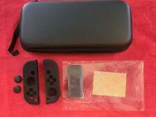 7 tlg. Zubehör für Nintendo Switch Schwarz:Tasche Case Displayfolie Spielehülle