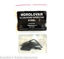 HOROLOVAR MEDIUM STEEL CLOCK TAPER PINS 25mm Long x 0.76mm - 1.65mm