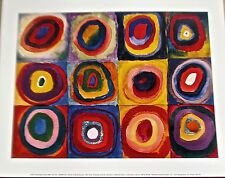 Kandinsky Poster Farbstudie Quadrate Circles with Circles of Color 14x11