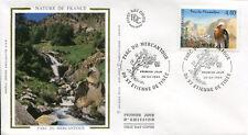 FRANCE FDC - 2999 1 PARC DU MERCANTOUR GYPAETE - 20 Avril 1996 - LUXE sur soie
