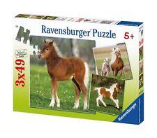 Ravensburger Puzzle kinderpuzzles ponyfreundschaft Pony Horse 3x49 Pieces